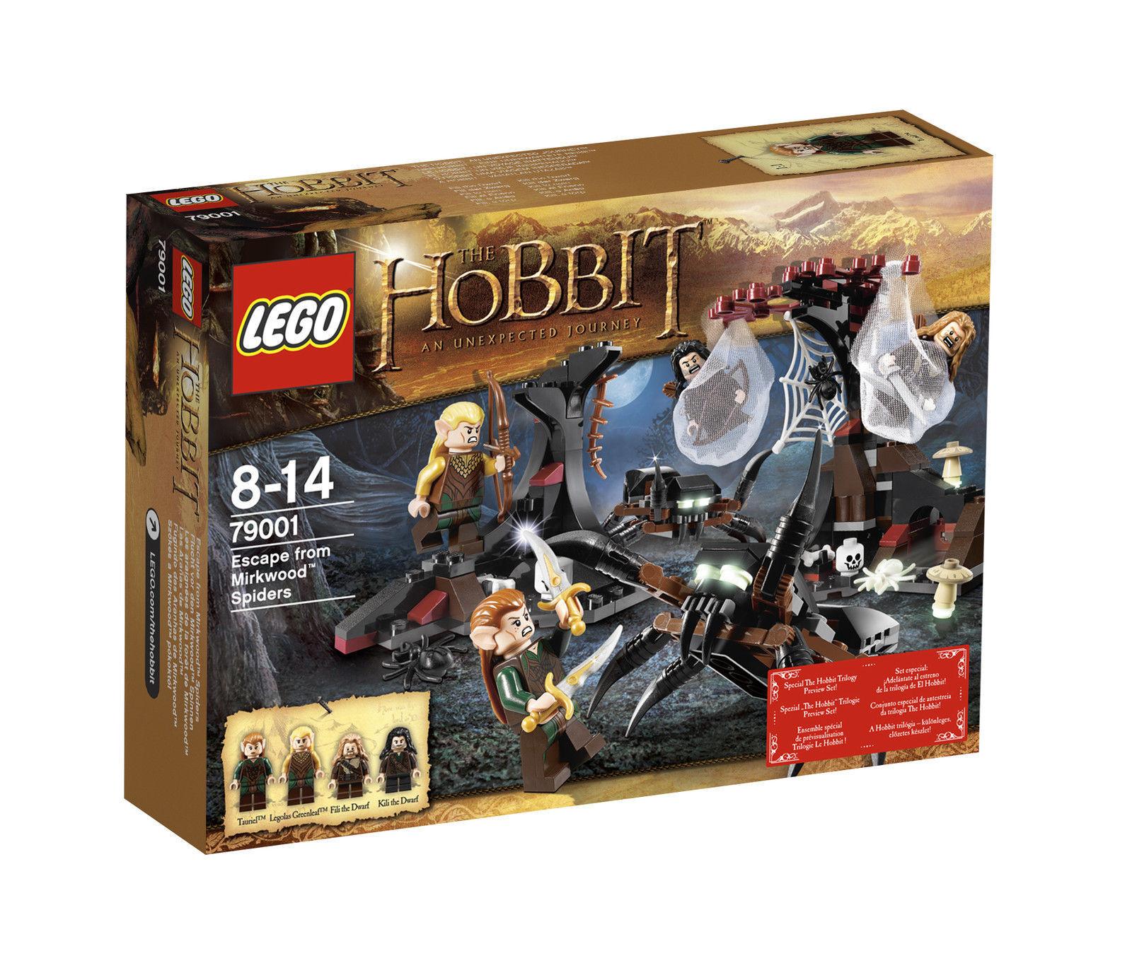 Lego The Hobbit (79001) Flucht vor den Mirkwood Spinnen  Neu & OVP