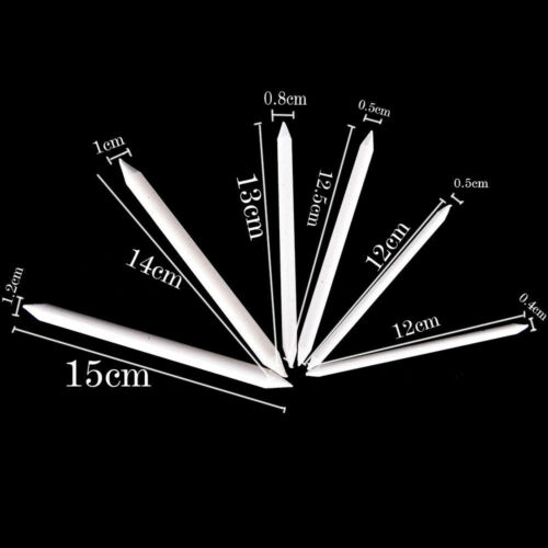 6Pcs Blending Smudge Tortillon Stump Special Paper Pen Art Drawing Sketch Tools