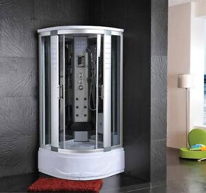 Cabina idromassaggio 80x80 box doccia vasca sauna bagno turco ozonoterapia 1 ebay - Sauna bagno turco ...