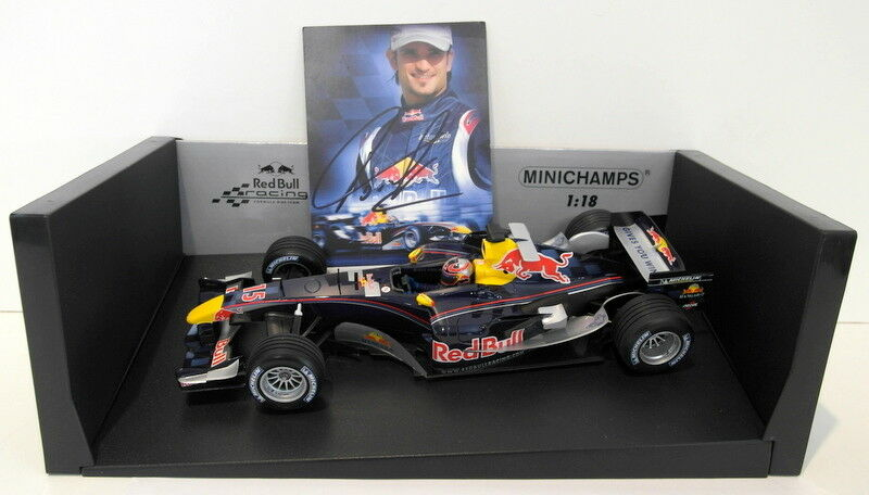 Minichamps 1 18 Scale 100 050115 Red Bull Racing Cosworth RB1 Season 05 SIGNED