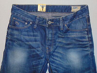 G STAR RAW 3301 Low Tapered Medium Aged W34 L34 HOMME BLEU Stack Denim Jeans | eBay