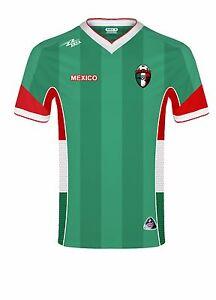 f082645c2e5 MEXICO New Arza Soccer Jersey Green/White/Red V Neck Short Sleeve | eBay
