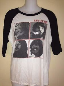 THE-BEATLES-LET-IT-BE-2010-LADIES-FITTED-MEDIUM-JERSEY-T-SHIRT-ROCK-LENNON
