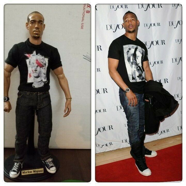 CUSTOM 1 6scale  Marlon Wayan ACTION FIGURE wearing blk T-shirt jeans & allstars