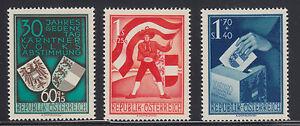 Austria-Sc-B269-B271-MLH-1950-Carinthian-Plebescite-cplt-VF