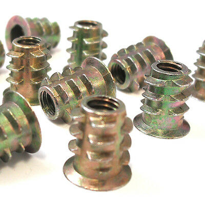 M6 x 13mm TYPE D WITH FLANGE HEX DRIVE 'SCREW IN' THREADED INSERT BUSHING