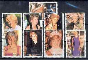 Sao-Tome-et-Principe-Lot-de-annulee-timbres-1997-PRINCESSE-DIANA