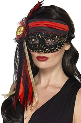 Masquerade Pirate Eyemask, Black (US IMPORT) COST-ACC NEW