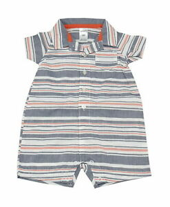 NWT Carters Baby Boy Clothes 1 Piece Jumpsuit Red//Gray Stripes MOST ELIGIBLE