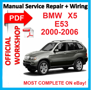 official workshop manual service repair for bmw x5 e53 2000 2006 rh ebay com 2013 BMW X5 Redesign 2000 bmw x5 owners manual