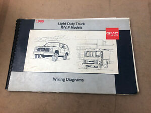 1989 Gmc Electrical Wiring Diagram Dealer Service Manual Light Duty Truck R V P Ebay