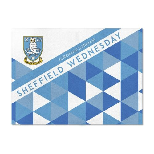 Sheffield Wednesday F.C PATTERNED 100x75 Personalised Blanket