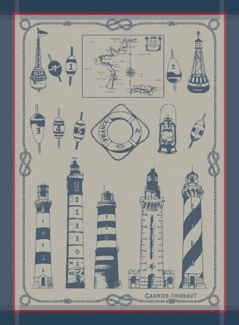 Garnier Thiebaut Dish Towel French Phares Lighthouse Beacon Buoy Nautical New