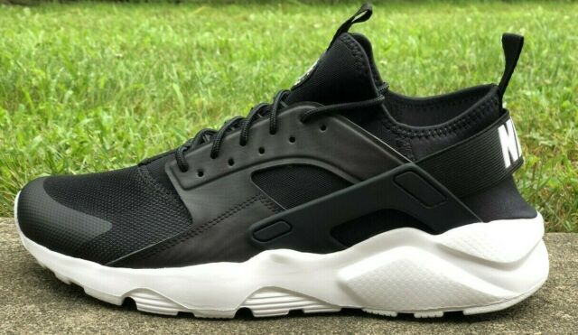 outlet store 408fd 78d19 NIKE AIR HUARACHE RUN ULTRA RUNNING SHOES BLACK WHITE 819685-016 NEW MENS