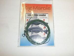 Rig-Marole-sin-PLOMO-Lider-1-5m-M-Verde-con-Anillo-Giratorio-Pesca-de-Carpa
