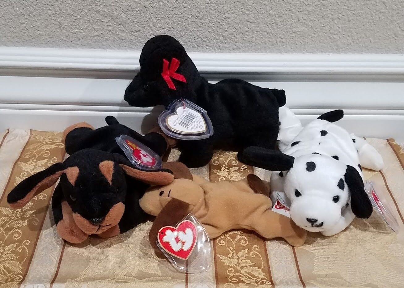 16eac707aa0 RARE Ty Beanie Babies w ERRORS - Dog Collection GiGi Doby Dotty Bones