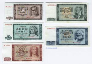 Satz-1964-DDR-5-100-Mark-fast-KASSENFRISCH
