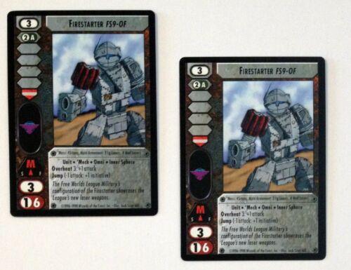 Battletech CCG Crusade /'Mech Firestarter FS9-OF 2