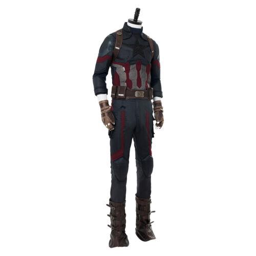 Avengers3 Infinity War Captain America Costume Shield Cosplay Men Steven Rogers