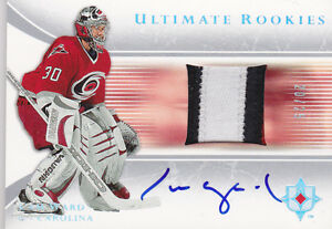 05-06-UD-Ultimate-Cam-Ward-25-Auto-Patch-Rookie-Hurricanes-Upper-Deck-2005
