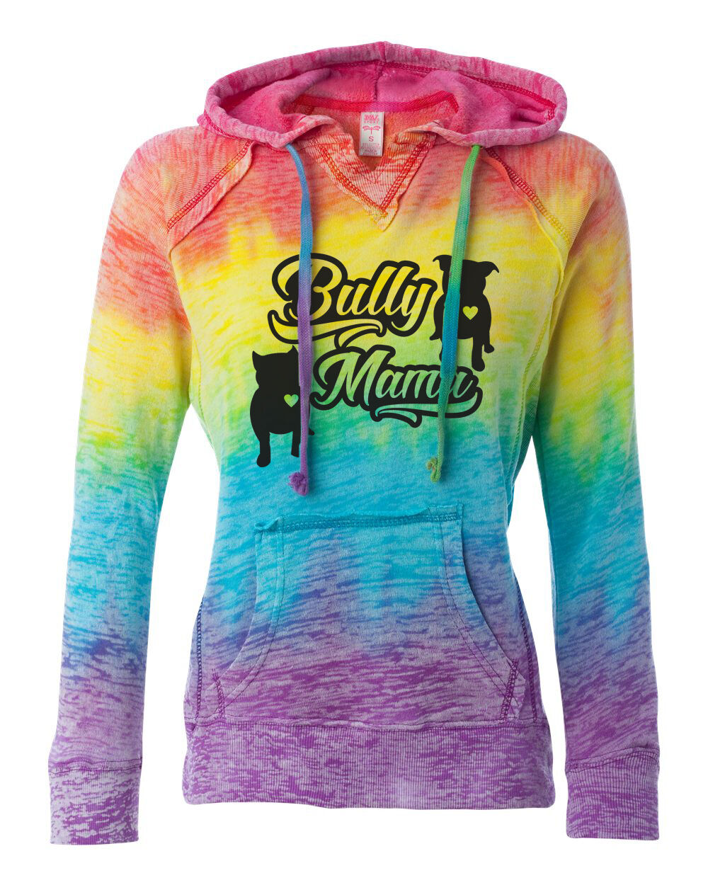Bully Mama Rainbow Hoodie for women pitbull clothing bully hoodie sizes sm- 2X