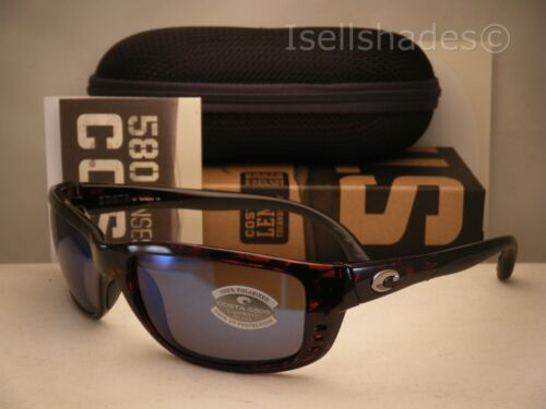 Costa Zane Tortoise w Blue 580G lens NEW Sunglasses ZN10 OBMGLP