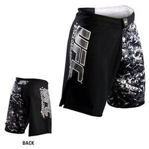 NEW! UFC Camo Fight Shorts - Black Camo - Mixed Martial Arts MMA, BJJ Kickboxing