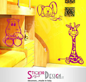 Wall stickers adesivi murali cameretta bambini adesivo - Adesivi camera bimbi ...
