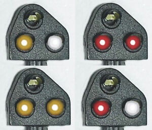Train-tech Dcc Ground Signals, Original & Modern, Red & Yellow Gs1 / Gs2 Oo/ho