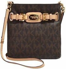 Nwt Michael Kors Hamilton MK Signature Brown  Shoulder Crossbody Purse Bag