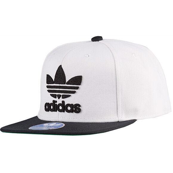 f7341e4a16e adidas Originals Trefoil Plus Thrasher Chain XENO Snapback Hat Cap Beanie  Logo White black