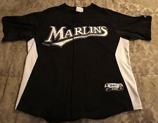 Florida Marlins Majestic Authentic Collection Jersey Size XL Approx Black White