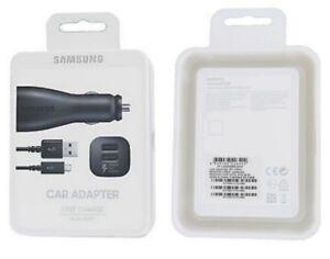 Samsung-Auto-KFZ-Schnell-Ladekabel-EP-LN920BB-fuer-Galaxy-Note-4-SM-N910F-Neu