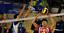 Balon-Voleibol-Suave-Al-Tacto-Size5-Amarillo-Azul-Cuero-Sintetico-Entrenamiento miniatura 6