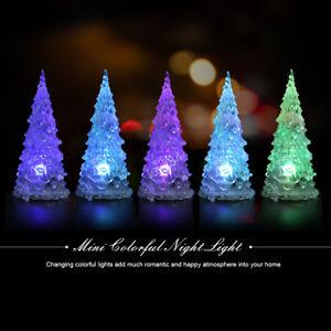 Details About Mini Led Christmas Tree Shaped Bedoom Decor Light Night Light Changing Color Lj