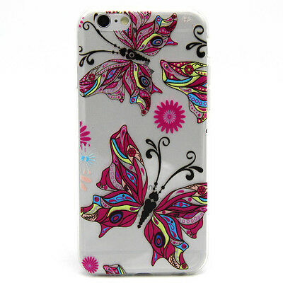Transparent Soft TPU Cute Patterned Rubber Silicone Cover Case For Cell Phone