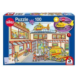 Schmidt-Spiele-Puzzle-Krankenhaus-Kinderpuzzle-mit-Siku-Hubschrauber-100-Teile