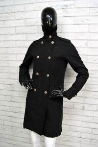 Cappotto-TIMBERLAND-Donna-Taglia-38-Doppiopetto-Woman-Coat-Giacca-Jacket-Nero