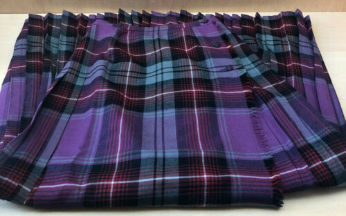 Aljean Vintage 100% Wool Skirt Kilt Maxi Length Si