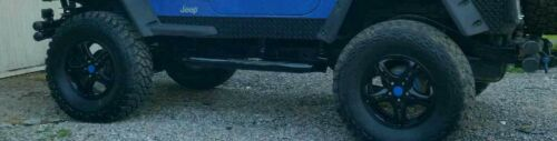 "Jeep TJ  5 1//2 Diamond Plate Rocker Guards 97-06 Jeep TJ BLACK powder ct.1/"" bend"