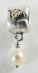 Pandora-Sterling-Silver-14K-Yellow-Gold-Pearl-Dangle-Charm-Bead-790324NP
