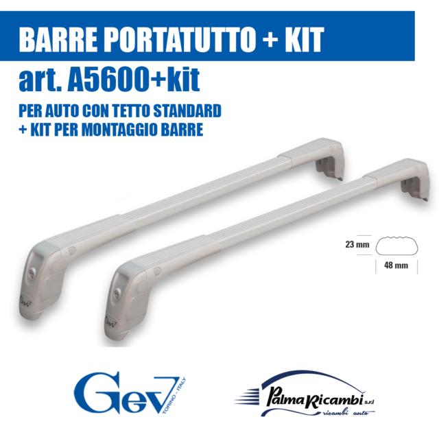 A5600+57 BARRE PORTATUTTO PORTAPACCHI GEV ALLUMINIO CON SERRATURE ANTIFURTO