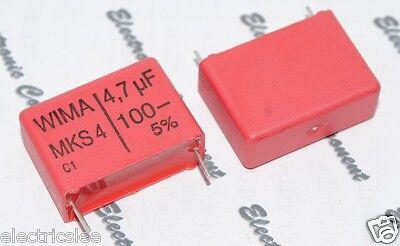 WIMA MKS4 4.7uF 4.7µF 4,7uF 100V 5/% pich:22.5mm Capacitor 2pcs