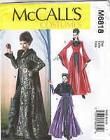 Evil Queen Coat Capelet Cape Dickey Goth Costume Sewing Pattern 12 14 16 18 20
