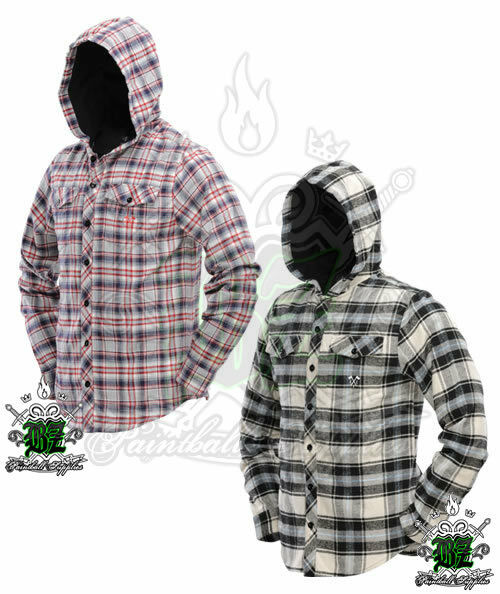 New DYE Paintball Airsoft Hooded Flannel