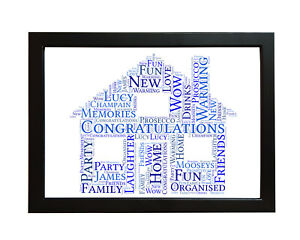 Personalised-New-Home-Family-House-Word-Art-Gift-House-Warming-Picture-Frame