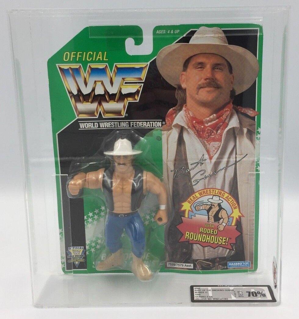 MEGA RARE  WWF Hasbro BART Smoking Gun - Grün CARD  1994, Series 11 UKG 70%