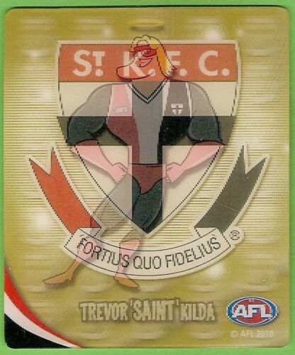 2010 AFL GOLD TAZO # 65 ST KILDA SAINTS MASCOT still in bag