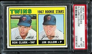 1967-Topps-Baseball-137-Minnesota-Twins-Rookie-Stars-PSA-8-NM-MT