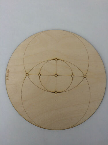 Medium Size Wooden Crystal Grid Plate Seed Flower Tree of Life Metatrons Cube